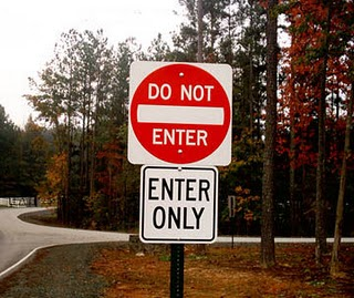 traffic sign says Entrance Only - No Entry