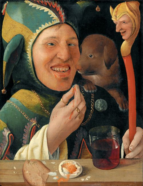 Marx Reichlich, A Jester, ca. 1519-20; tempera on panel.